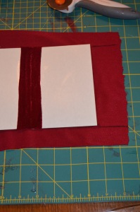 Where to cut the fabric for the first part of the cover