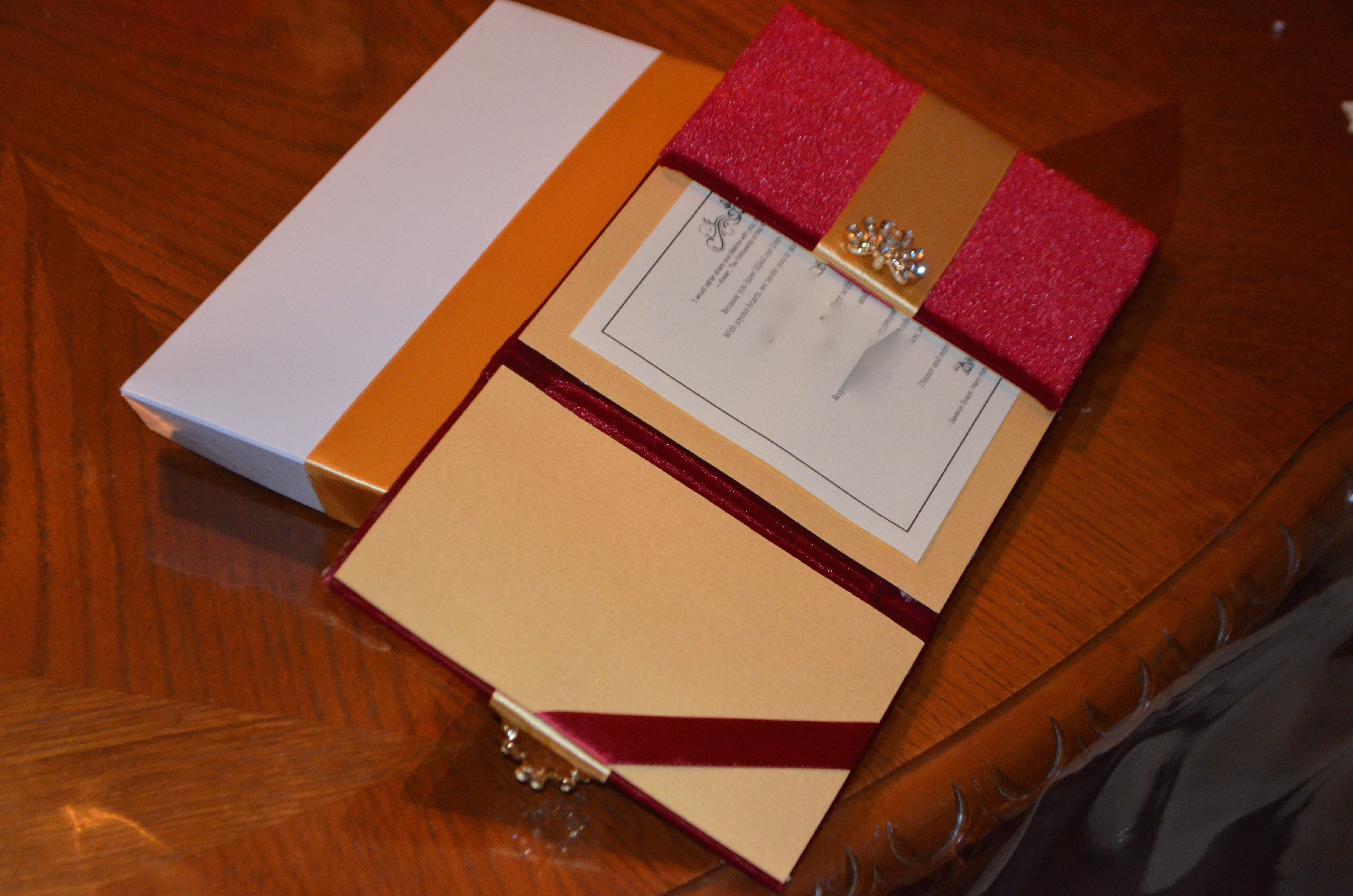 My DIY Fabric Folio Wedding Invitations CraftyDafra